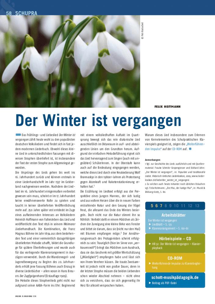 Der winter ist vergangen lied